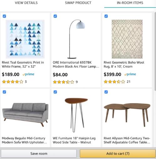 亚马逊推出家居装饰视觉购物体验工具Showroom!